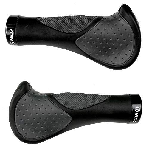 Velo® 2X Neue Generation Geleinsätze Stoßfestigkeit Ergonomie Komfort Design Fahrrad MTB XC FR Lenkergriff mit G2 Schraubensicherung z.B. für NCM Moscow E-Bike