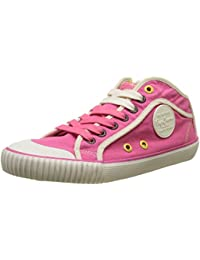 London Verona W Cracked, Sneakers Basses Femme, Rose (Factory Pink), 37 EUPepe Jeans London