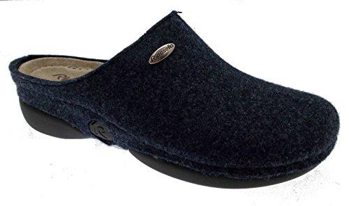 ciabatta blu plantare lana cotta feltro panno art 9201 38 blu