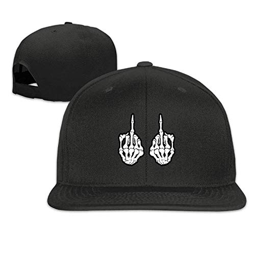errterfte Skull Fingers Fuk Halloween Flat Brimmed Hip Hop Style Baseball Cap Outdoor Snapback Hat Personalized Hat Comfortable Adjustable (Morgan Halloween Captain)