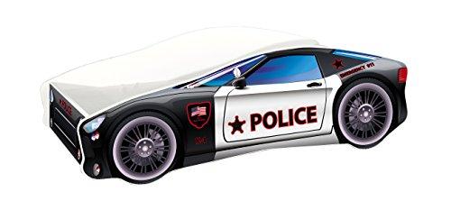 Kinderbett Autobett Auto Junior mit Lattenrost und Matratze 140x70 160x80 180x80 ACMA (140x70, 3)