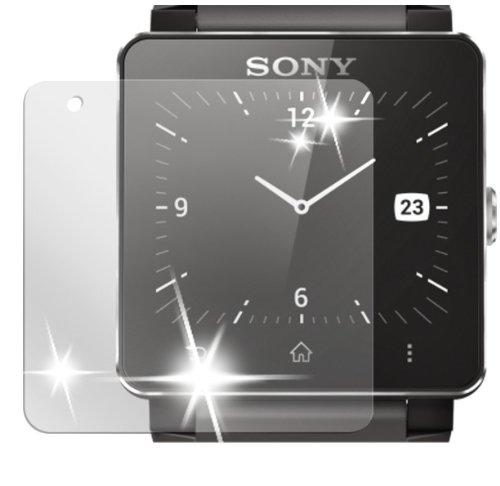 dipos I 2X Schutzfolie klar passend für Sony Smartwatch 2 Folie Bildschirmschutzfolie