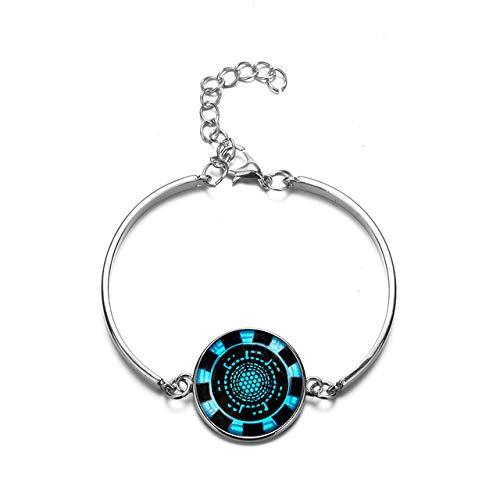 Inveroo Neue Heiße Eisen Mann Herz Tony Stark Armband Arc Reactor 3D Gedruckt Glas Charm Armbänder Für Frauen Männer Marvel Schmuck