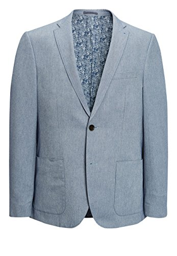 next Herren Signature Italian Slim-Fit-Jackett Blau EU 96.5 Normalgröße (UK 38R) -