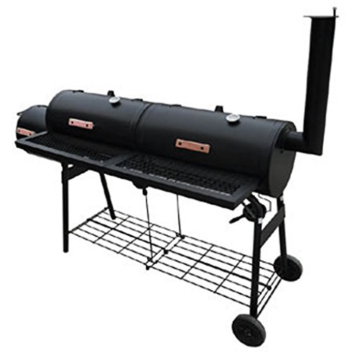 Festnight Smokers Grill Barbecue-Grill Grillwagen Camping Outdoor Picknick-Grills 173 x 51 x 141 cm