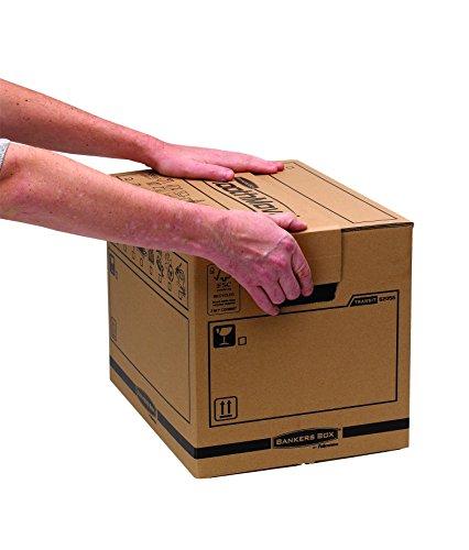 Bankers Box Umzugsbox SmoothMove klein (aus 100% recyceltem Karton, 10er Packung) braun - 9
