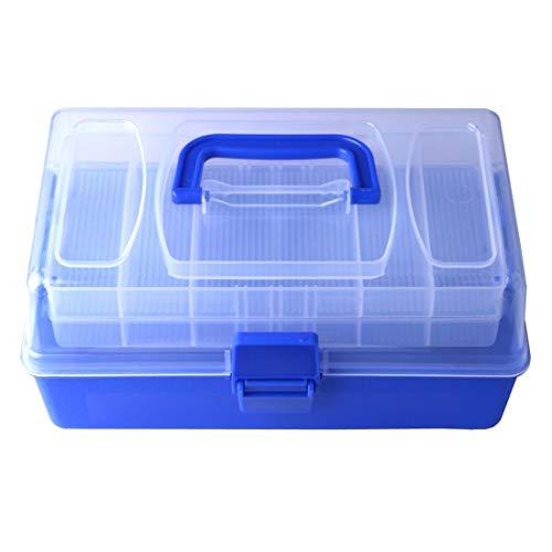 WARM home Draussen Größe: 14 * 15 * 28cm, Multifunktionshandlicher Werkzeugkasten-Plastikspeicher-Angelgerät-Kasten Werkzeug