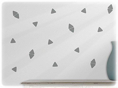 Preisvergleich Produktbild wandfabrik - Wandtattoo - 63 praktische Dreiecke in mittelgrau