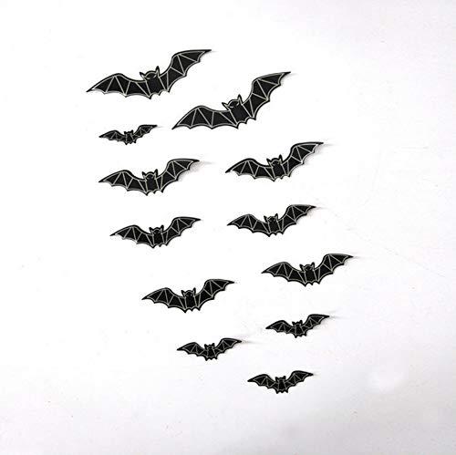 Vandelkt Halloween-Deko 3D Die Fledermaus Stereo-Fledermaus Pvc-Wand Ist Ein Satz Von 12 Stücken (Karte Für Die Halloween-sätze)