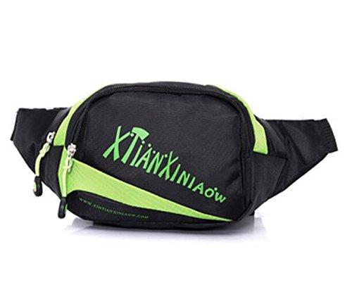 ZYT Mann Taschen Geldbörsen Multifunktions Nylon wasserdicht im freien Radtourpaket Green