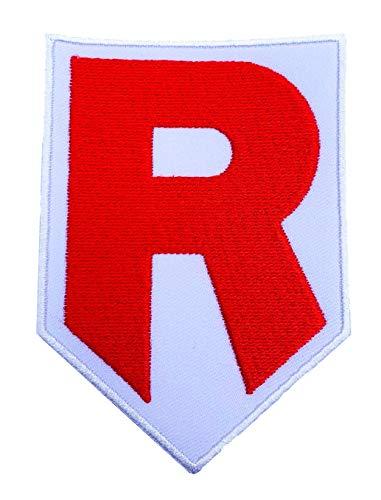 Team Rocket R Logo Pokemon Patch Embroidered Iron on Badge Aufnäher Kostüm Fancy Kleid Pokémon Cosplay
