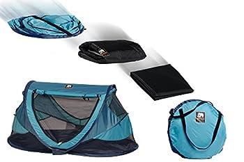 Deryan Travel-Cot Peuter mit Schlafsack, Luftmatratze und Reisetasche