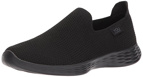 Skechers You-Spirit, Zapatillas sin Cordones para Mujer, Negro (Black/White), 38 EU