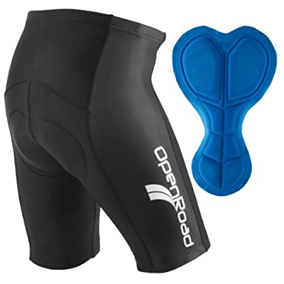 OpenRoad - Mens Gel Padded Cycling Shorts Road Bike from OpenRoad Sports