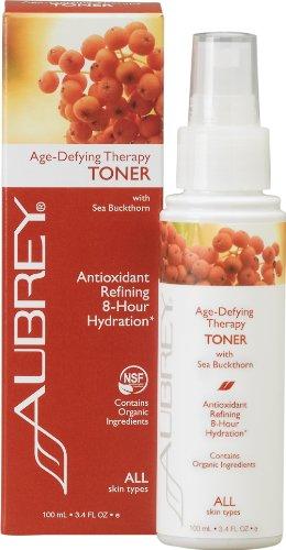 Aubrey Organics Lotion tonifiante pour le visage - Age Defying Therapy de. 100 ml