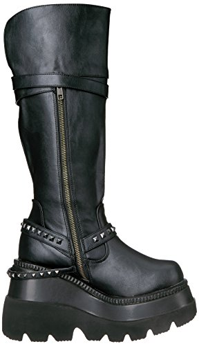 Demonia SHAKER-101 Blk Vegan Leather