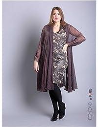 Edmond Boublil - Vêtement Femme Grande Taille Gilet Over Edmond Boublil Café