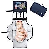 Pomelo best Cambiador portatil de pañales para bebe Impermeable | Kit Cambiador Bebe Viaje | Esterilla Lavable de Quita y Pon | Perfecto para Usar Fuera de Casa