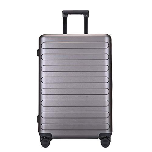 GNNHY Explosionsgeschützter Business-Koffer Mit Reißverschluss, Handgepäck, Hartschalen-Reisetasche Für Handgepäck/Leichte, Langlebige 4-Spinner-Räder/Passwortsperr-Boarding-Box,minegold,L -