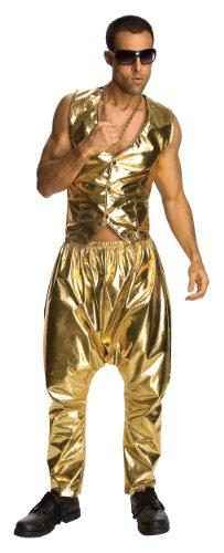 Rubie's Goldene MC Hose 90er-Jahre Hip Hop Kostüm ()