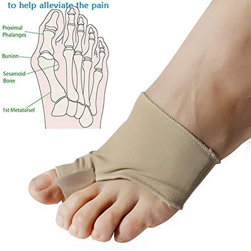 Bunion Corrector Silikon Bunion Pads Fußschutz Relief Kit Schmerzen Behandlung Hallux Valgus Protector Ärmeln,M -