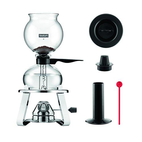 Bodum K1218-16 Kaffeebereiter, Glas, schwarz, 30 x 36,79 x 15,9 cm