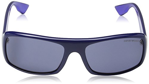 Herren Sonnenbrille: Emporio Armani Herren EA 9665/S Wayfarer Sonnenbrille, Deep Blue Frame / Blue Gradient -