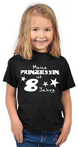 Zum 8. Geburtstag - Lustiges Kinder T-Shirt, Funshirt, Sprücheshirt, Geburtstagsshirt - Meine Prinzessin ist 8 Jahre