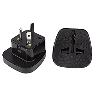 UK to Australia Adapter By aPlug. Pack of 2 - Works Throughout Australia and New Zealand - Super Reliable. UK To Australia Plug Adaptor. UK Australia Adapter