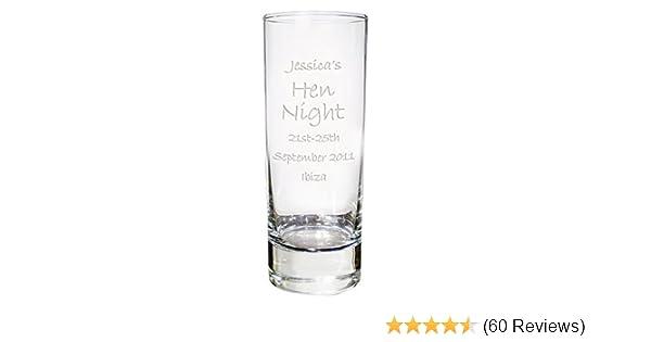Personalised Engraved Shotglass Glass Wedding Birthday 18th 21st Stag Hen do