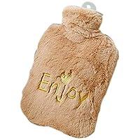 Braune niedliche Wärmflasche mit weicher Flanellabdeckung beweglicher 27 * 15.5cm preisvergleich bei billige-tabletten.eu
