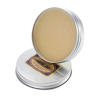 Anself Goat Milk Male Shaving Soap for Beard Cleaning with Aluminium Bowl for Facial Razor by Anself