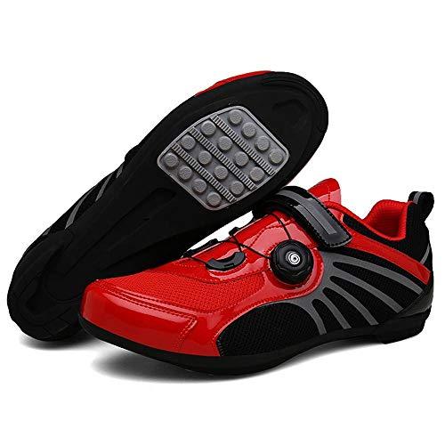 ZMMHW Scarpe da Ciclismo Traspiranti PRO autobloccanti Scarpe da Bici da Bici da Corsa Ultraleggeri Sneakers da Corsa atletiche Zapatos Ciclismo,B,Size44