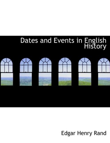 Dates and Events in English History