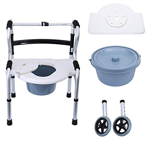 STOUBYT FURNITURE CASA Multifunktionale Senioren Walker Runde Bad Platte + Töpfchen + Riemenscheibe Rehabilitation Hilfstraining Walker Rollstuhl -