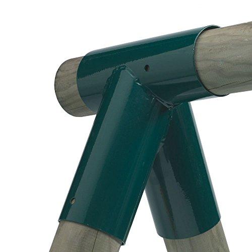 Gartenwelt Riegelsberger 2 STK. 102 x 102 x 102 mm, GRÜN, Rohrverbindungsstück Schaukel Verbinder Stahl für Rundholz 10x10x10 cm pulverbeschichtet Raumkupplung Rohrverbinder Schaukelverbinder