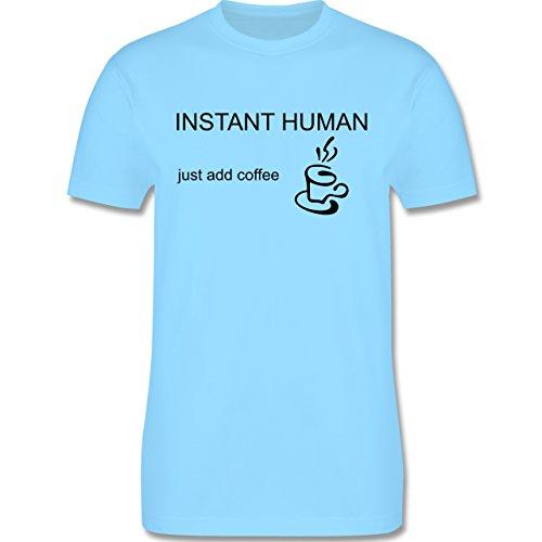 Sprüche - Instant Human - add Coffee - Herren Premium T-Shirt Hellblau