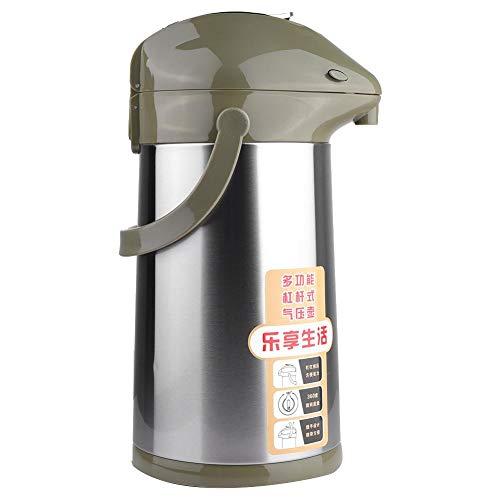Vakuumisolierter Topf, 3L Druck Edelstahl Haushaltsisolierter Topf Vakuumisolierter Wassertopf Krug Groß Enthalten(Frucht-Grün) - Groß Krug