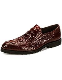 Patrón De Cocodrilo Zapatos De Cuero para Hombres Zapatos De Vestir Transfronterizos Zapatos De Conducción