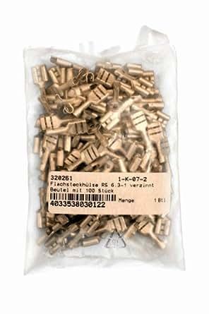 VS Electronic 320261 Flachsteckhülse RS, 6.3-1. Beutel, Verzinnt (100-er pack)