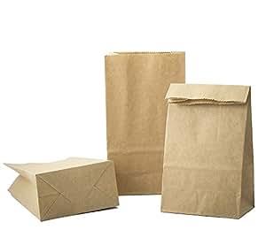 10 piccolo sacchetto di carta marrone Sacchetti di carta (9 x 16 x 5 cm) 70 G/M2 bustine sacchetti con fondo Kraft carta per sacchetti regalo, Calendario dell' Avvento, regali pugilato