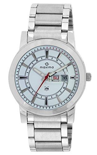Maxima Attivo Analog White Dial Men's Watch - 24900CMGI image