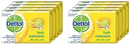 Dettol Bar Soap - Fresh, 8 x 120g