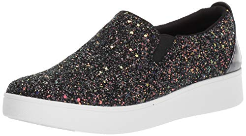 Fitflop Sania Glitter Skates, Zapatillas sin Cordones para Mujer, Negro Black Mix 231