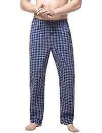 LAPASA Uomo Pigiama Pantaloni-100% Cotone ELS Premium- Abbigliamento da  Notte Stampa a 16037b6aa78d