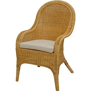 korb.outlet Rattan-Sessel mit Holzbeinen, Sessel aus
