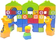 Popsugar Building Blocks in a Bag - 64pcs, Multicolor