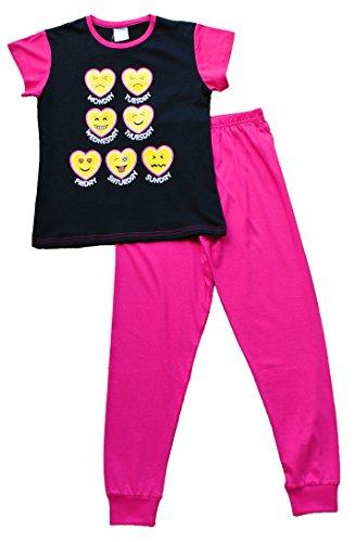 Preisvergleich Produktbild ThePyjamaFactory Mädchen Schlafanzug rosa rose Medium Gr. 11-12 Jahre, rose