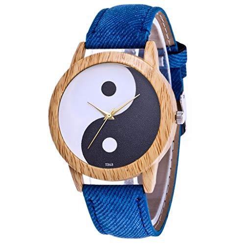 IG Invictus Damen Mode Casual Lederstrap Analog Quarz Runde Uhr T363 N Quarzuhr Blaue Quarz Uhr