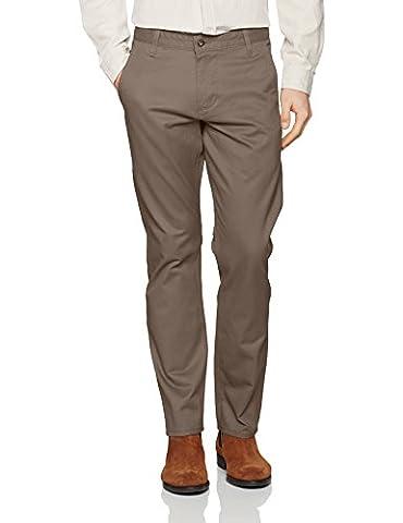 Dockers Men's BIC ALPHA ORIGINAL SLIM TAPERED - STRETCH TWILL Trouser, Grey (Dark Pebble 0433),